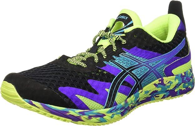 ASICS Gel-Noosa Tri 12 Road Running Shoe Herren Sneakers Schwarz/Gelb/Lila Bunt