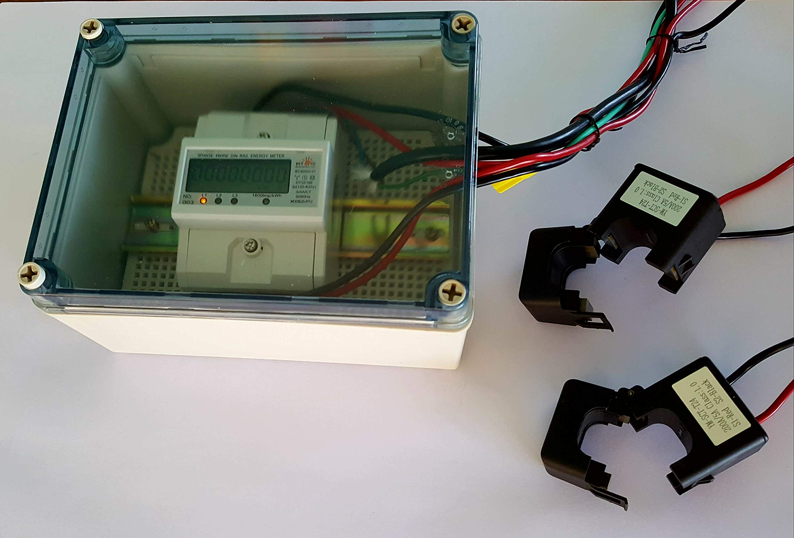 Smart energy meter 1 2 or 3 phase 120V/480V. 2x200:5 Amps included by BeyondTech.com (Image #5)