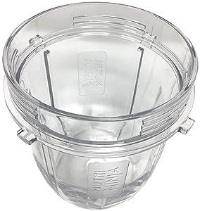 Genuine Nutri Ninja 12oz Tritan Cup for Auto-iQ BL451 BL455 BL481 BL486 BL491 BL492 BL642 BL682 BL685 BL682 BL687 BL2013 NN100 Blender