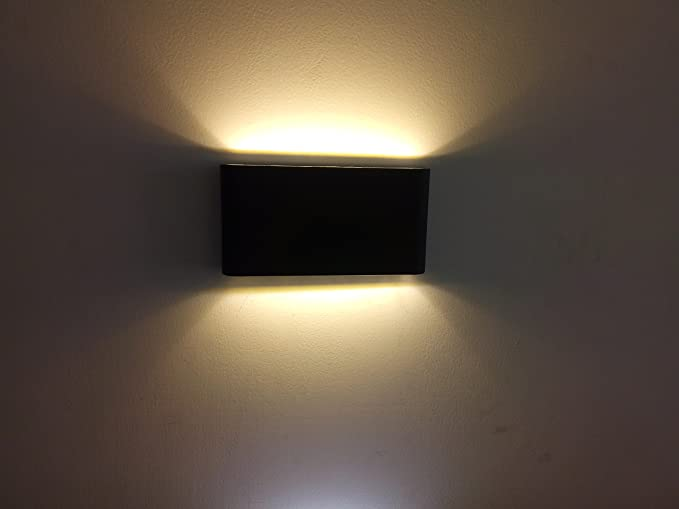 Led Wall Light Super Bright 12w Cob Lamp Ip65 Waterproof Sconce Up