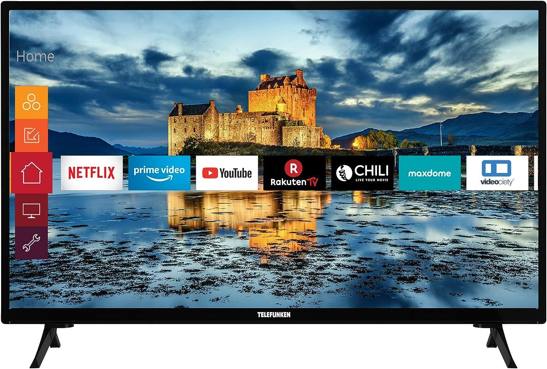 Telefunken Xf32j511 32 Zoll Fernseher Smart Tv Inkl Prime Video Netflix Youtube Full Hd Works With Alexa Triple Tuner Modelljahr 2021 Heimkino Tv Video