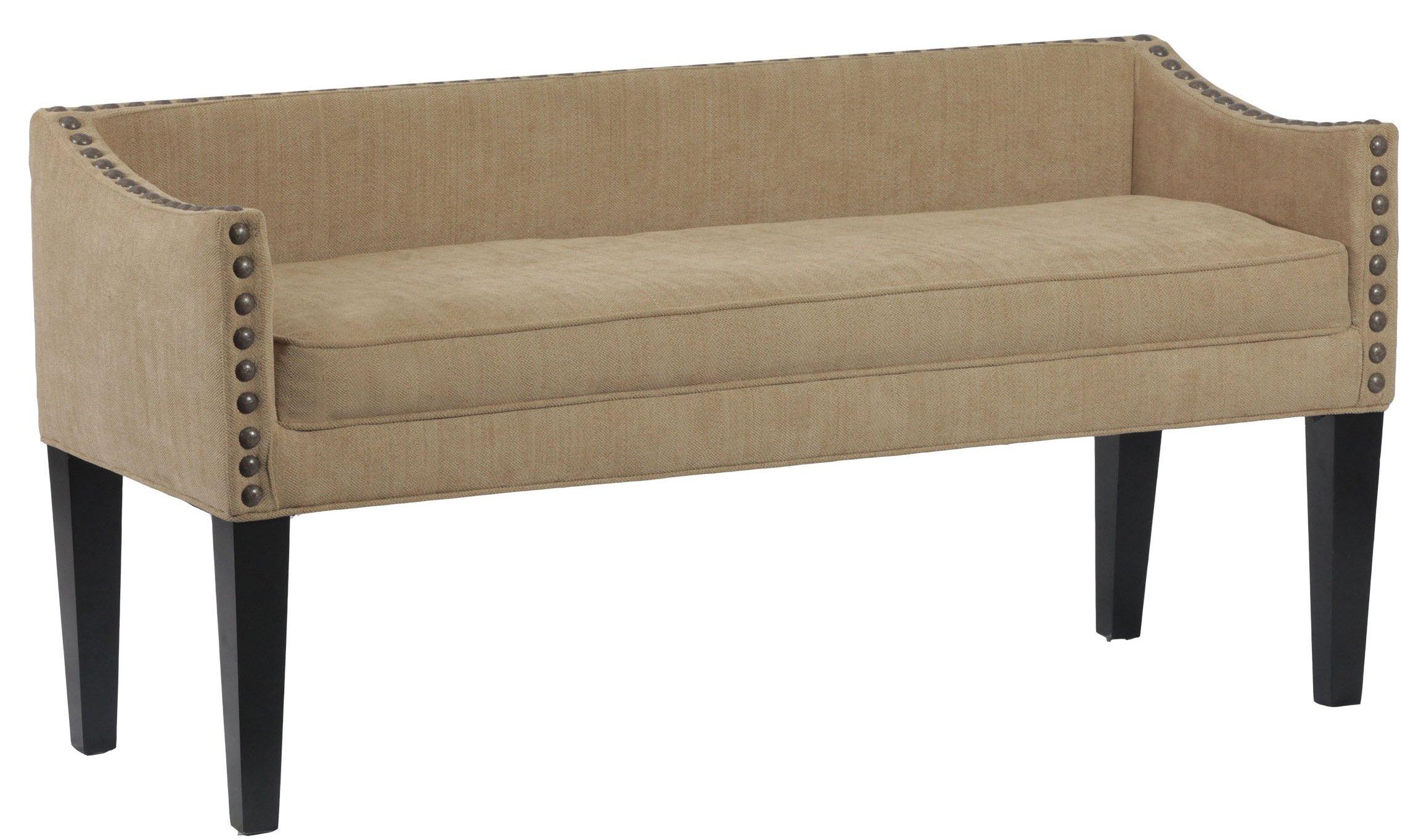 Leffler Home 13000-02-10-01 Whitney Transitional Long Upholstered Bench, Chestnut Brown