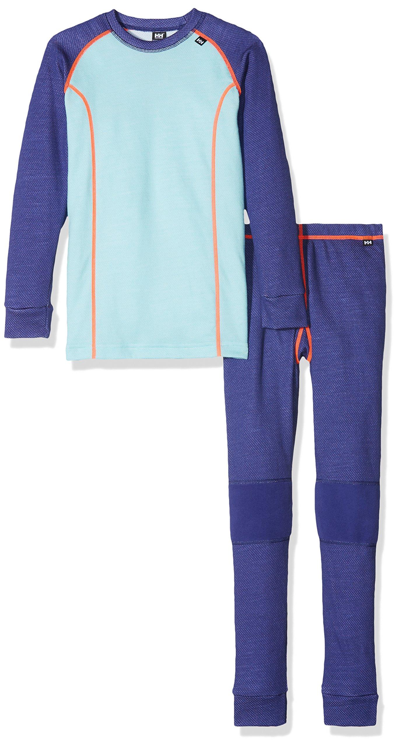 Helly Hansen Junior Lifa Merino Baselayer Set, Lavender, Size 10