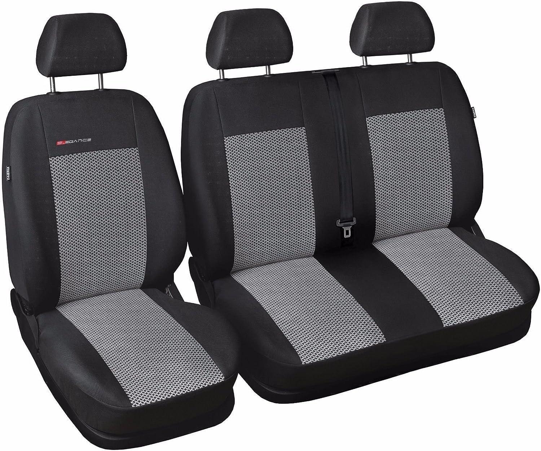 T5 Black Eco-Leather Universal VAN Seat Covers 2+1 for Volkswagen T4