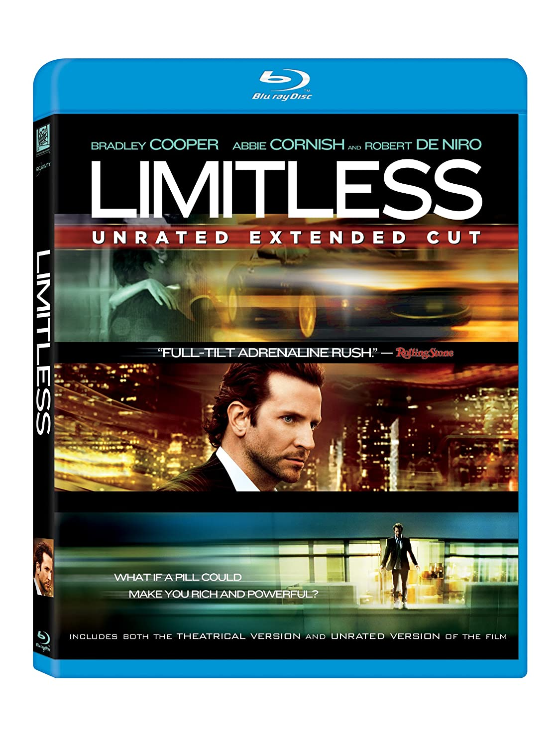 Amazon.com: Limitless [Blu-ray]: Bradley Cooper, Anna Friel, Abbie Cornish,  Robert De Niro, Andrew Howard, Johnny Whitworth, Tomas Arana, Robert John  Burke, Darren Goldstein, Ned Eisenberg, T.V. Carpio, Richard Bekins, Neil  Burger, Bradley