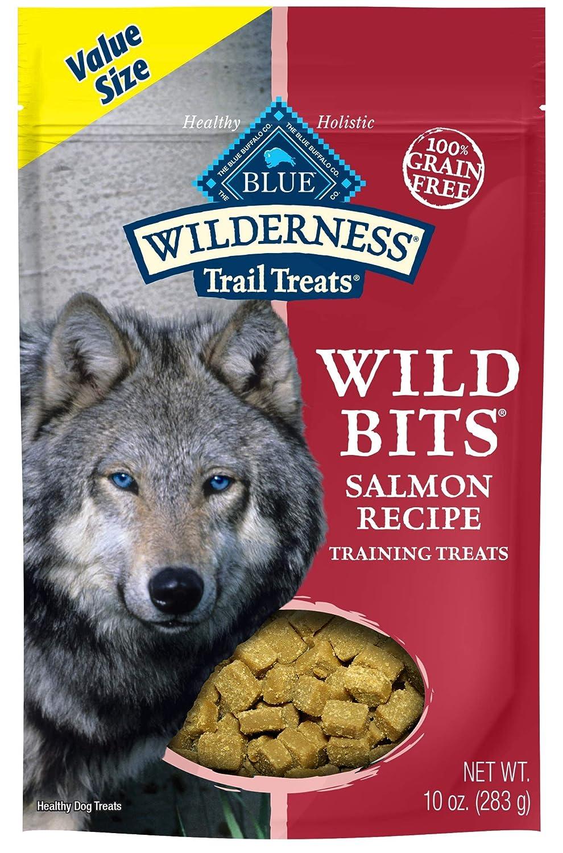bluee Buffalo Wilderness Trail Treats Salmon Wild Bits Grain-Free Training Dog Treats, 10-oz Bag