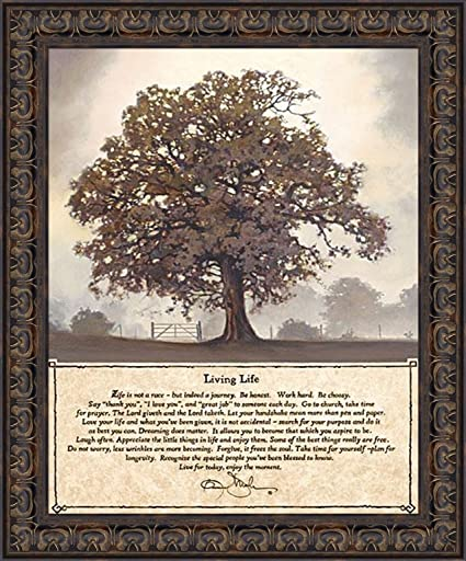 Bon Living Life By Bonnie Mohr 20x24 Life Is A Journey Inspirational Quote Tree  Framed Art Print