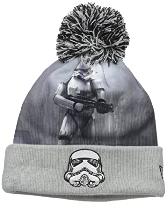 e1f2ac948f2 Amazon.com  Star Wars Men s All Out Storm Trooper Pom Beanie