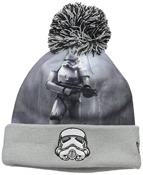 a95526fed3c Star Wars Men s All Out Storm Trooper Pom Beanie