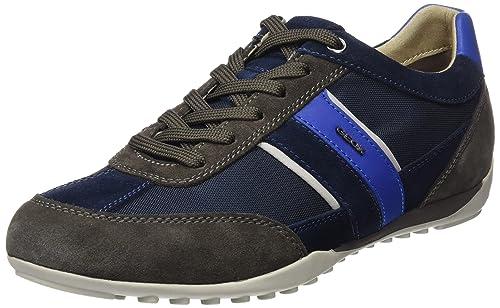 Geox U Walee a, Zapatillas para Hombre, Azul (Blue), 44 EU