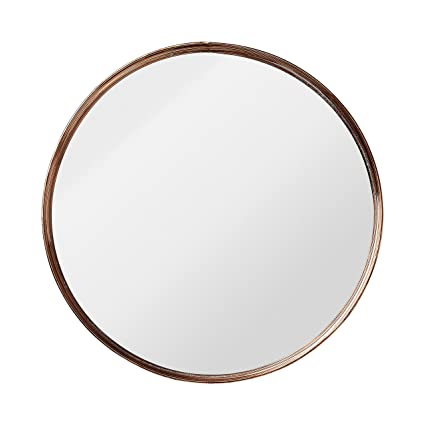 Bloomingville Small Round Metal Framed Mirror With Copper