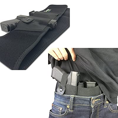 Belly Band Holster For Concealed Carry | IWB Holster | Waist Band Handgun Carrying System | Hand Gun Elastic Holder For Pistols (Right-Handed) 2