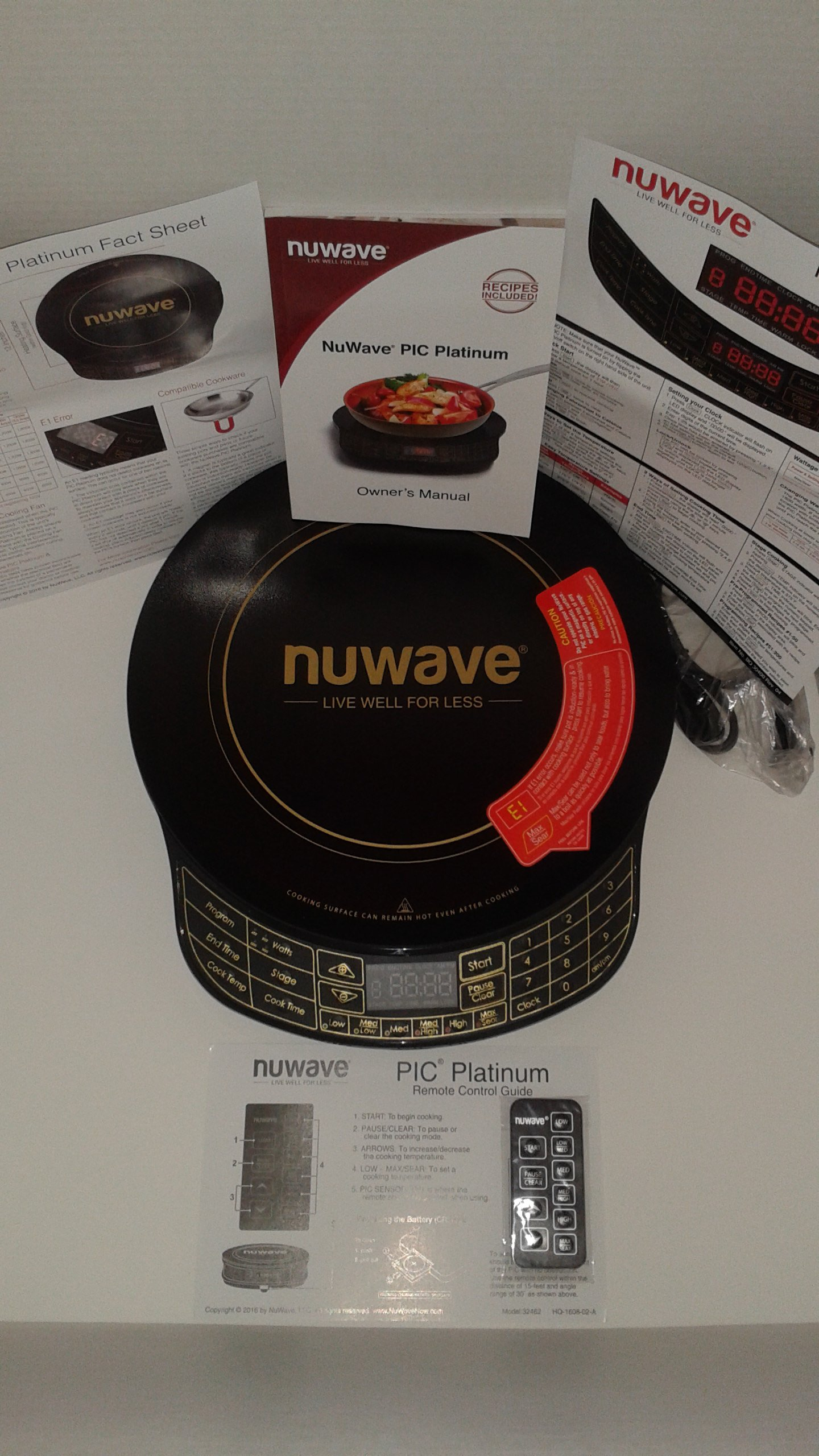 NuWave Platinum 30401 Precision Induction Cooktop, Black with Remote and Advanced Features for 2017 by NuWave (Image #3)