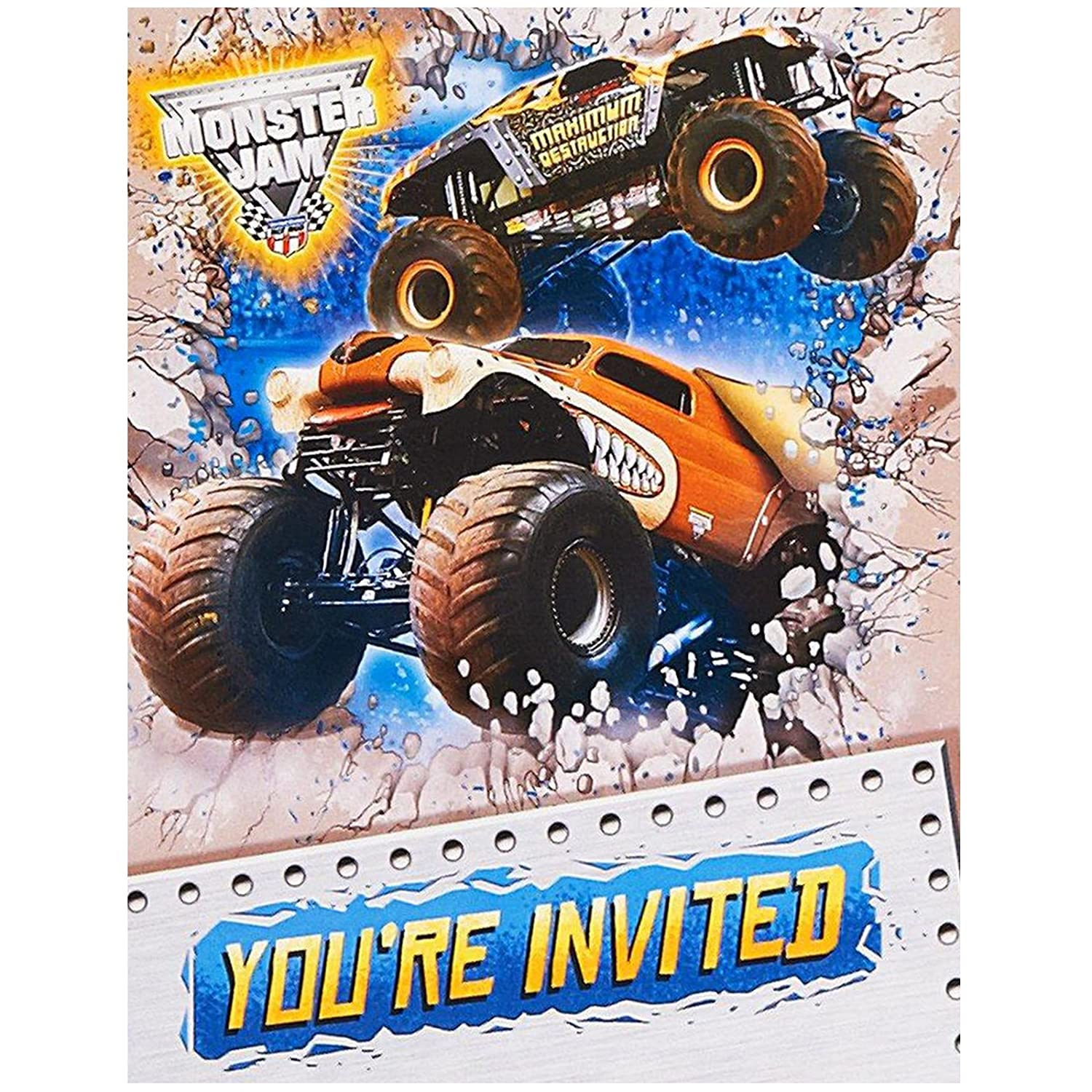 Amazon.com: Monster Jam Party Supplies - Invitations (8): Toys & Games