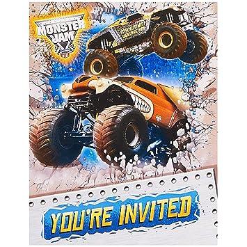 Amazon monster jam party supplies invitations 8 toys games monster jam party supplies invitations 8 filmwisefo Gallery