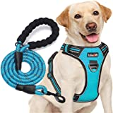 tobeDRI No Pull Dog Harness Adjustable Reflective Oxford Easy Control Medium Large Dog Harness with A Free Heavy Duty 5ft Dog