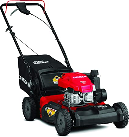 Amazon Com Craftsman 12avu2v2791 149cc Engine Front Wheel Drive Self Propelled Lawn Mower Red And Black Garden Outdoor