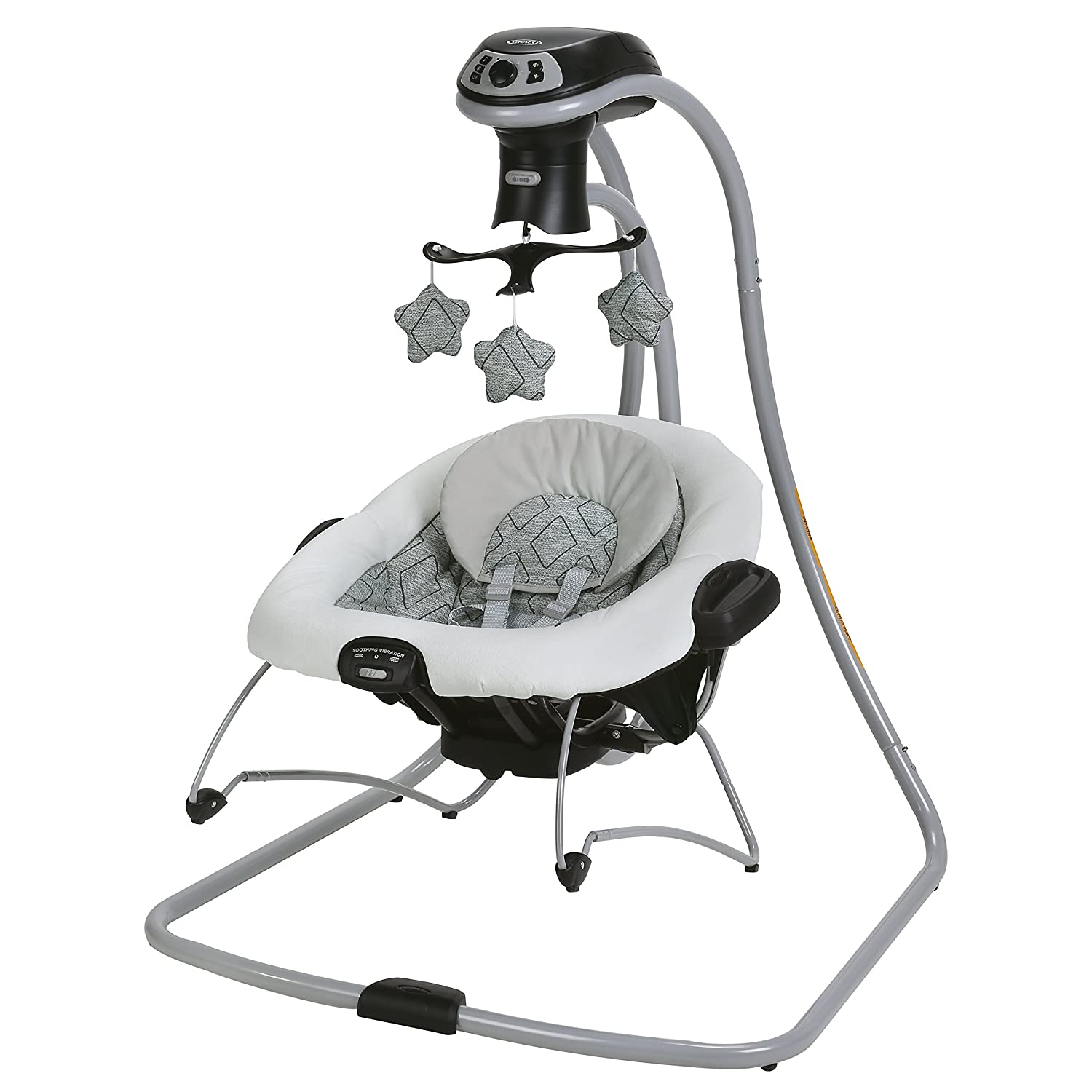 Graco Duetconnect Lx Swing and Portable Bouncer with Multi-Direction, Asher 1901624