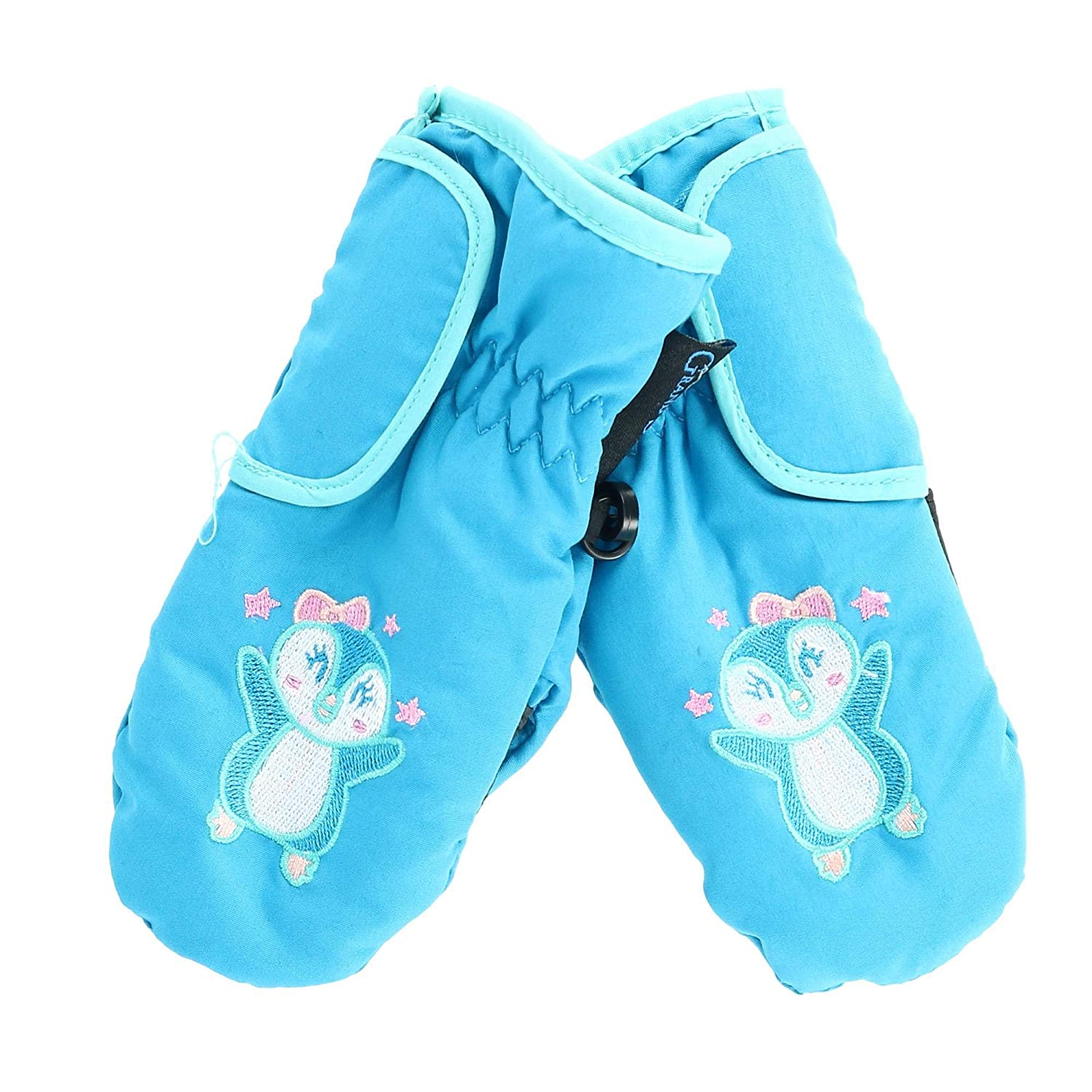 Grand Sierra Toddlers Girls' 2-4 Embroidered Waterproof Mittens, Bunny