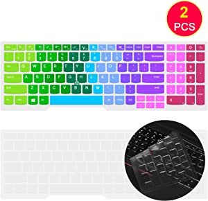 "Ultra Thin Silicone Keyboard Cover Skin for 15.6"" Lenovo Thinkpad E531 E540 E550 E555 E560 E565 E570 E575 W540 W541 W550 W550s L560 L570 T550 T560 P50 P50s /Thinkpad P70 P71 17.3""(Rainbow)"