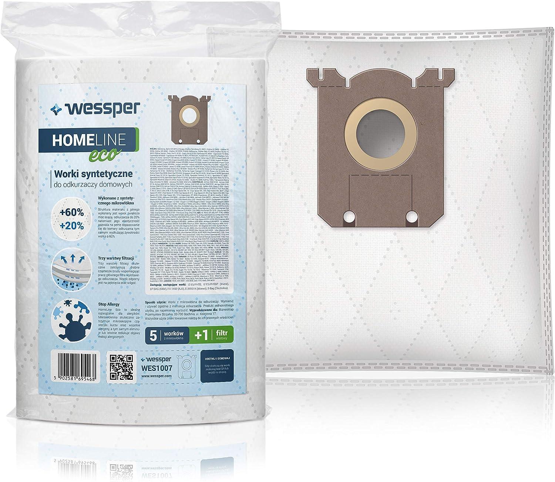 Wessper 12x Sacs daspirateur pour Philips FC9066 Synth/étique, S-Bag