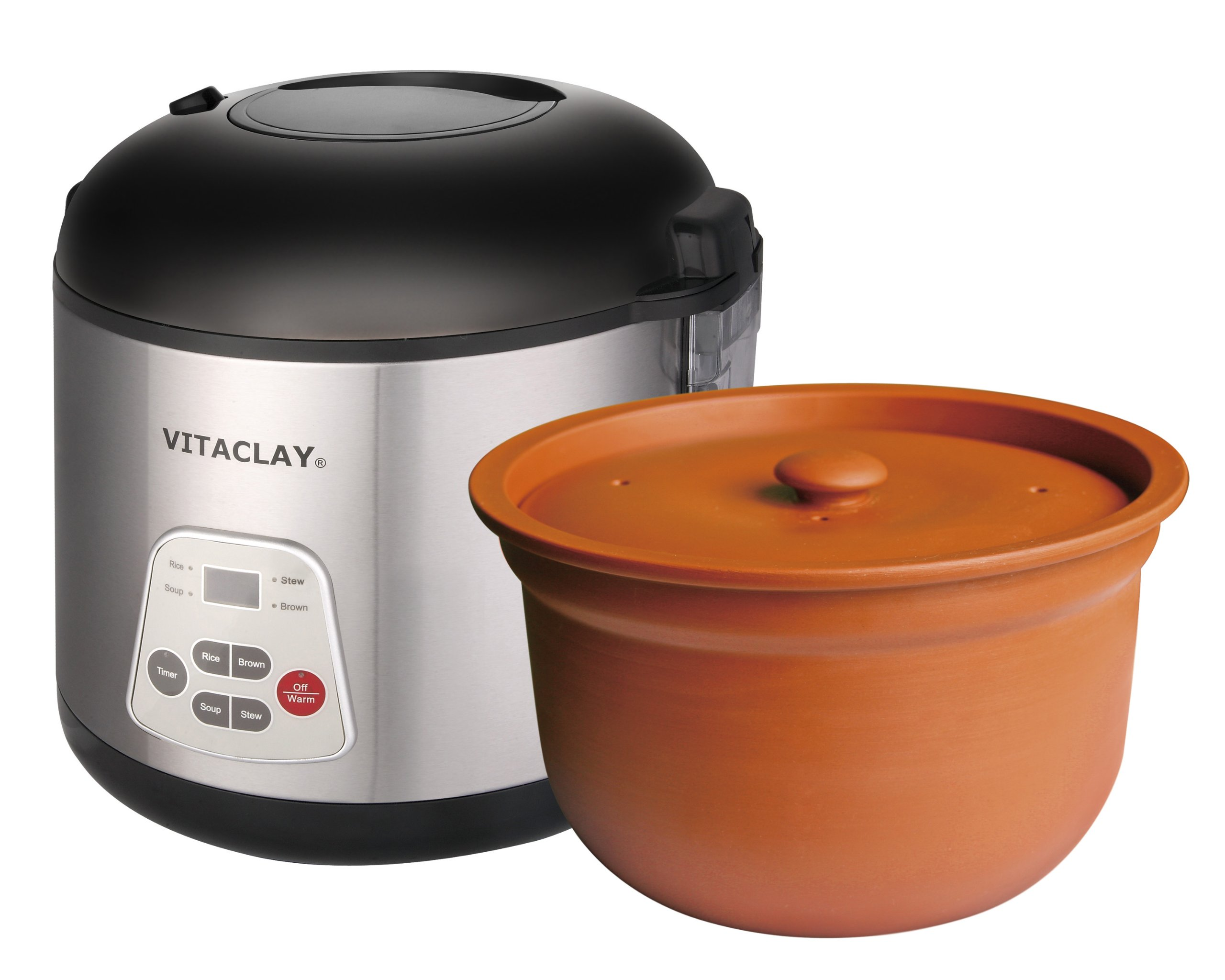 High-Fired VitaClay 2-in-1 Rice N Slow Cooker in Clay Pot