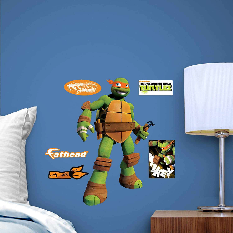 Fathead Teenage Mutant Ninja Turtles Michaelangelo Fathead Teammate Wall Decor