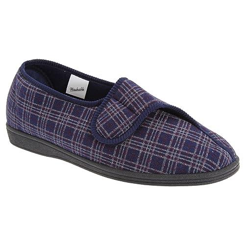 Sleepers - Zapatillas de estar por casa anchas con cierre de velcro Modelo Julian II Hombre caballero: Amazon.es: Zapatos y complementos