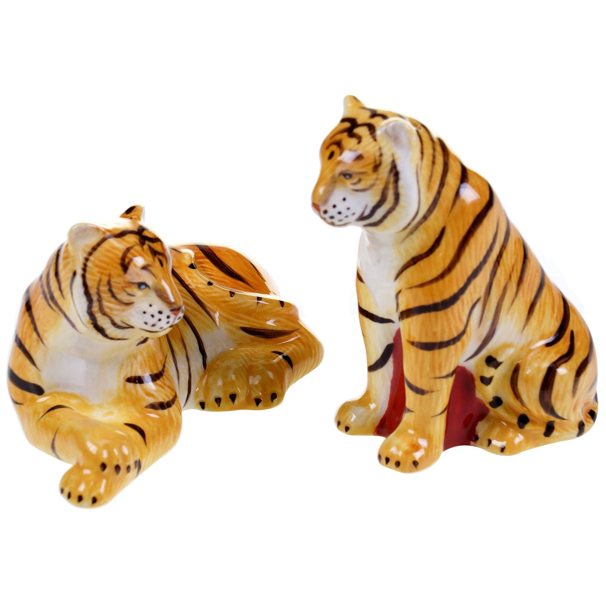 Tracy Porter for Poetic Wanderlust Imperial Bengal 3-D Tiger Salt & Pepper Set