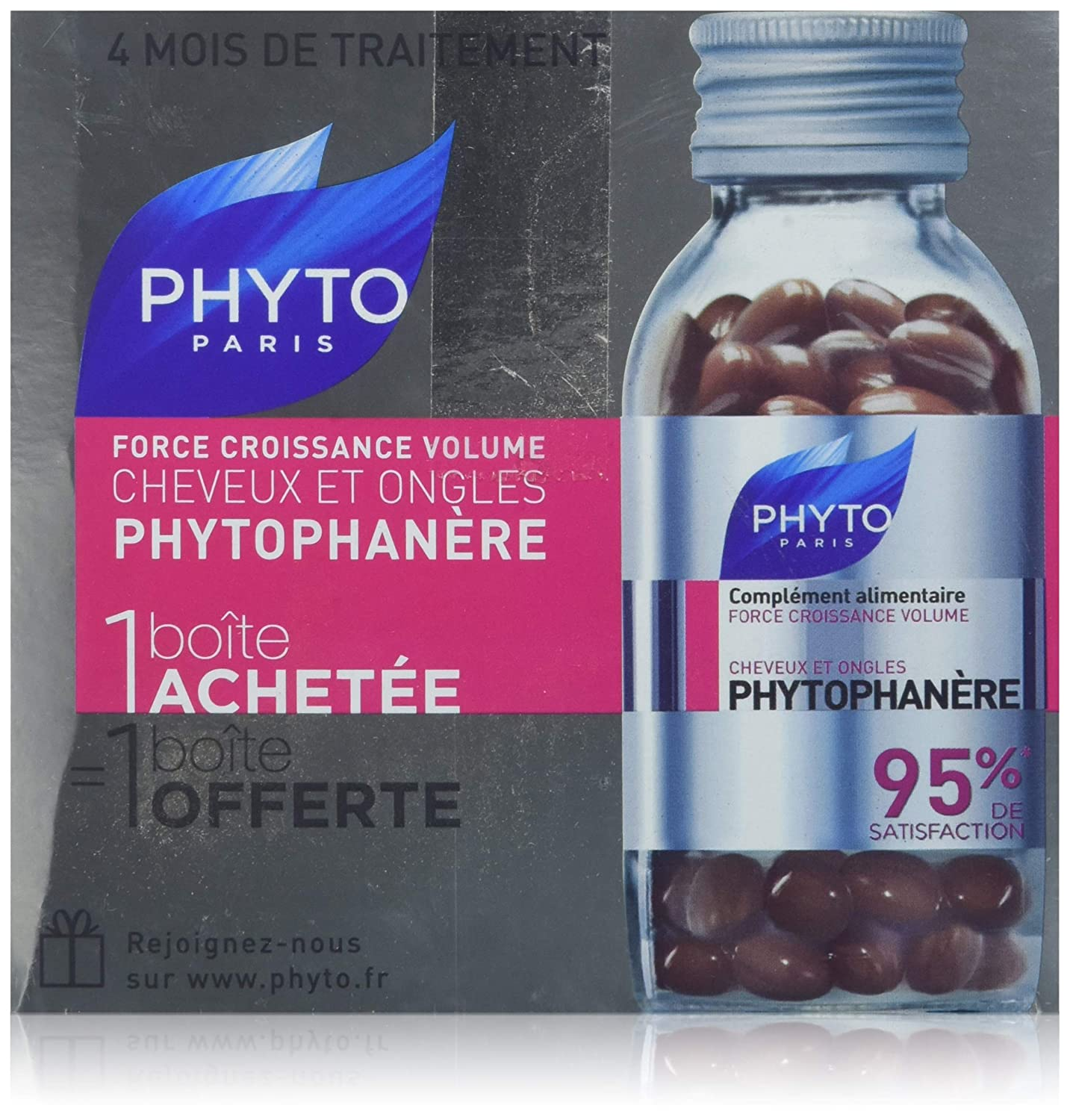Phyto Phytophan?re Hair and Nails 2 x 120 Gel-Caps HealthCentre 3448