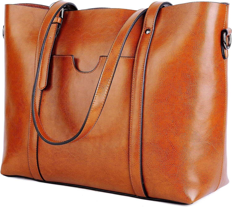 Shoulder Bag Leather Messenger Worker Bag in vintage style brown used look