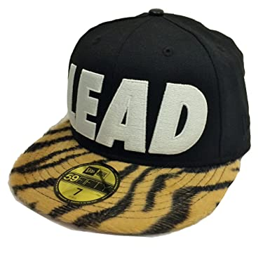 New Era 59Fifty Leaders1354 Yellow Tiger Lead Black Fitted Cap at ... 889859749bd1