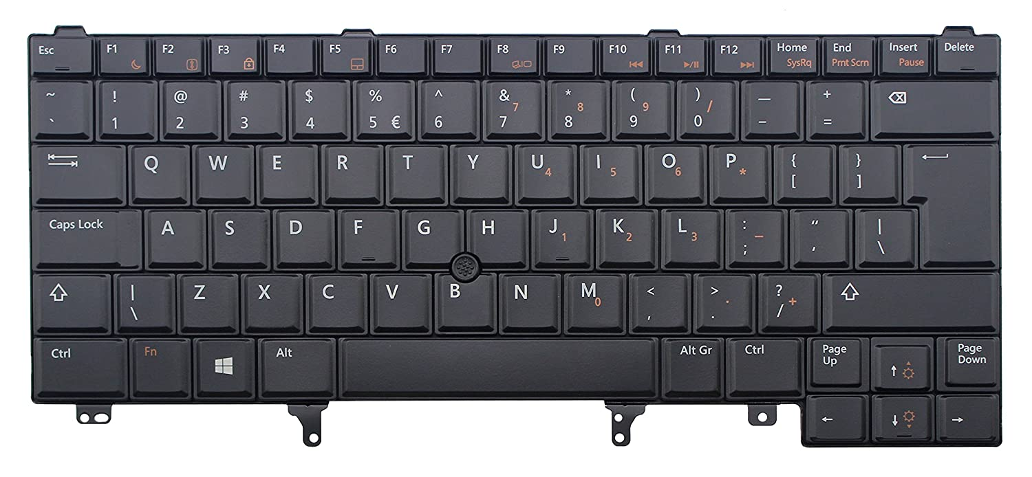 SOOGOOD Replacement Keyboard for Dell Latitude E5420 E5430 E6220 E6230  E6330 E6320 E6420 E6430 Laptop Keyboard BLACK Non-Backlit