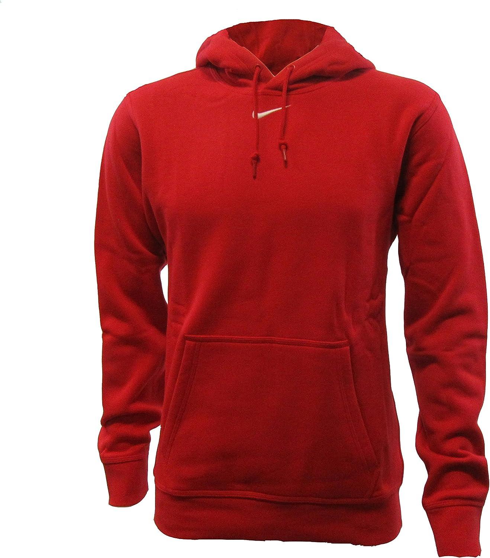 red nike swoosh hoodie