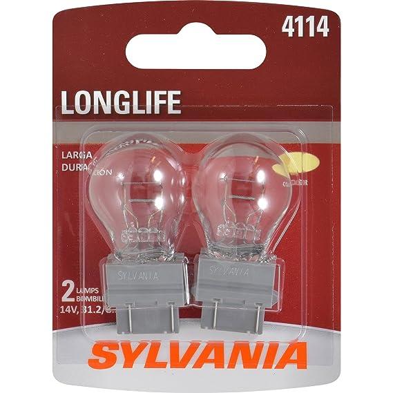 Amazon.com: SYLVANIA 4114 Long Life Miniature Bulb, (Contains 2 Bulbs): Automotive