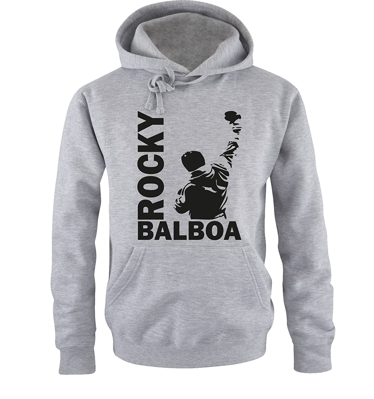 Comedy Shirts Sweat Shirt pour Hommes Sweat /à Capuche Rocky Balboa III Sweat Italian Stallion Boxeur