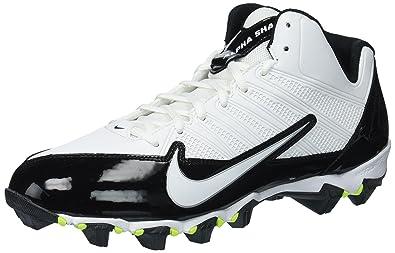 save off 46877 b9023 Nike Men s Alpha Shark 3 4, Black Volt White, 10 D -