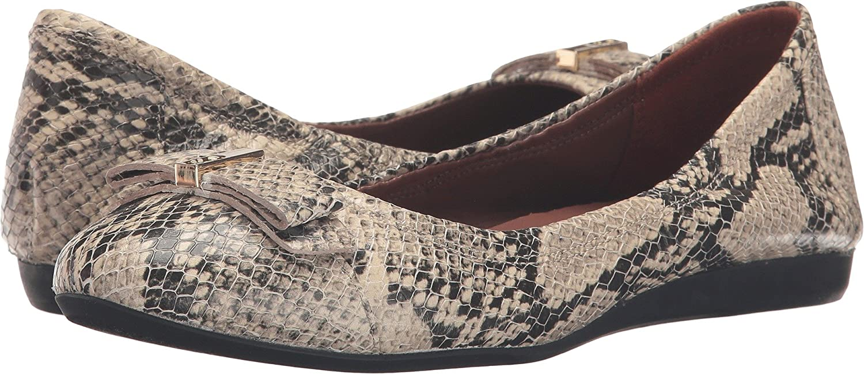 Cole Haan Women's Elsie Ii Ballet Flat B01HEI3NF4 6.5 B(M) US Roccia Snake Print Leather