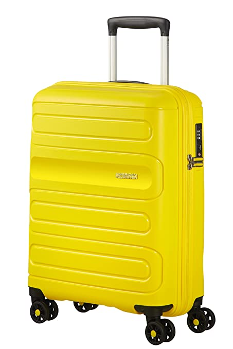 American Tourister Sunside Spinner 55/20 Equipaje de Mano, 55 cm, 35 litros, Amarillo (Sunshine Yellow)
