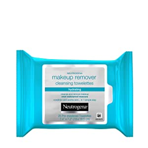 Neutrogena Hydrating Makeup Remover Face Wipes and Pre-Moistening Facial Cleansing Towlettes, Alcohol-Free, 25 ct/pack (pack of 3-total 75 count)
