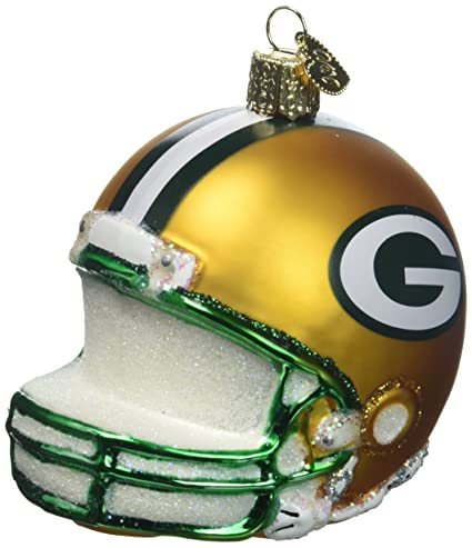 old world christmas ornaments nfl green bay packers helmet glass blown ornaments for christmas tree - Green Bay Packers Christmas Ornaments