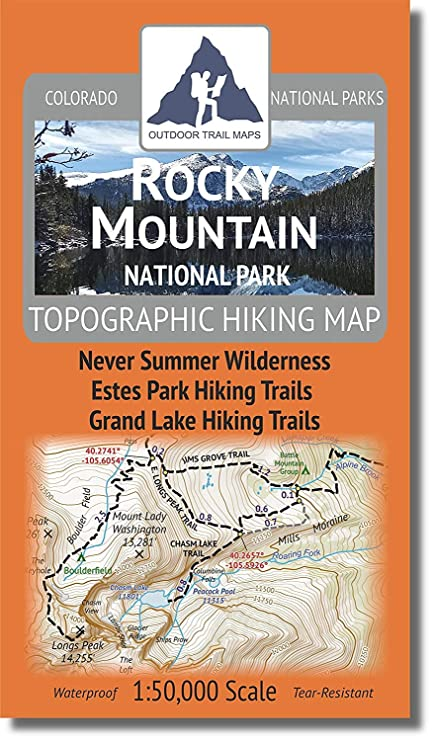 Rocky Mountain National Park - 2018 Topographic Hiking Map