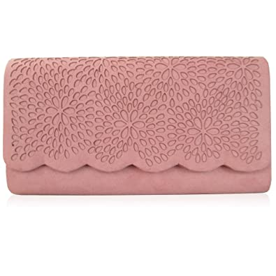 100% original new lifestyle arriving Xardi London Blush Ladies Faux Suede Clutch Bag Vintage ...