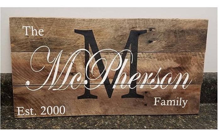 Amazon Com Personalized Wood Sign 11 X 18 Custom Name Wood Sign