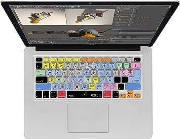 Cubierta del Teclado Cinema 4D QWERTY, para MacBook, Air & Pro