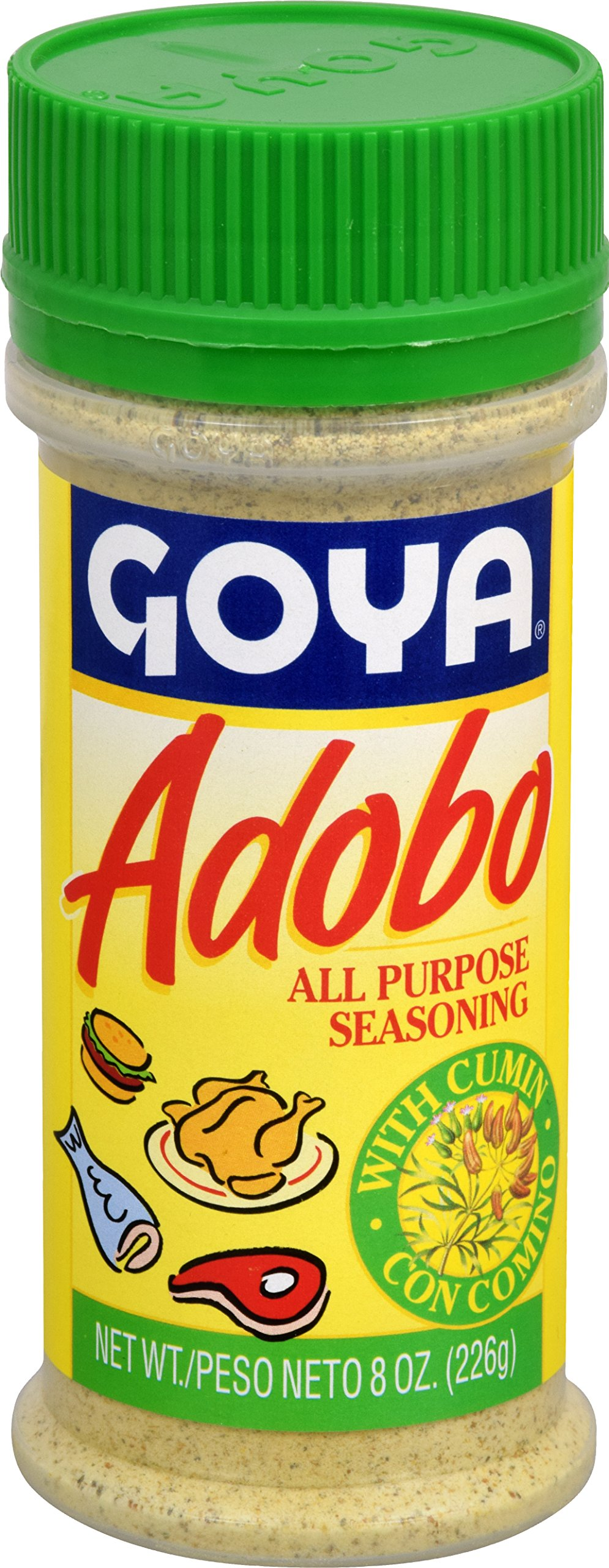 Goya Foods Adobo with Cumin, 8-Ounce (Pack of 24)