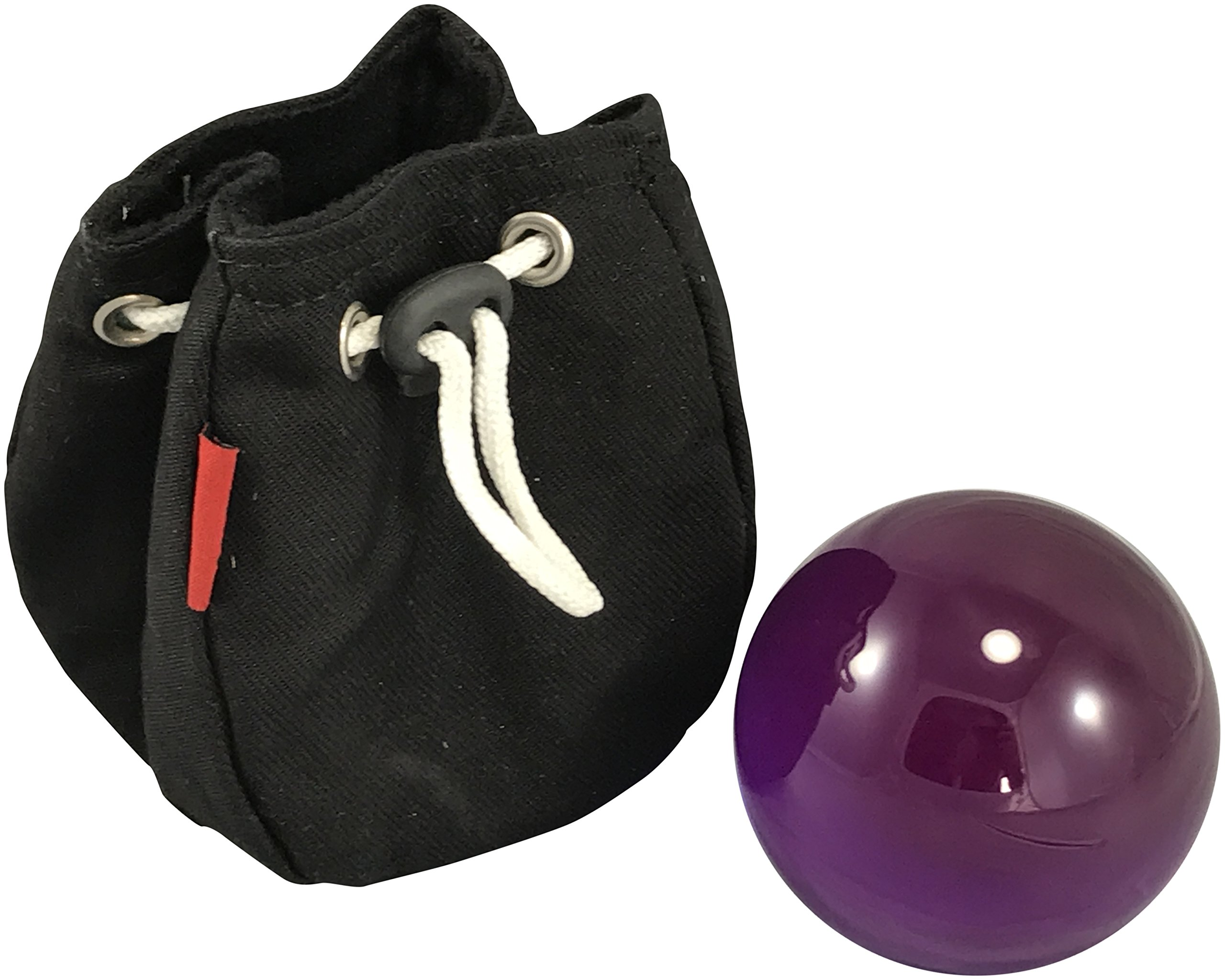 Contact Juggling Ball 75mm Acrylic Purple with Protective Bag