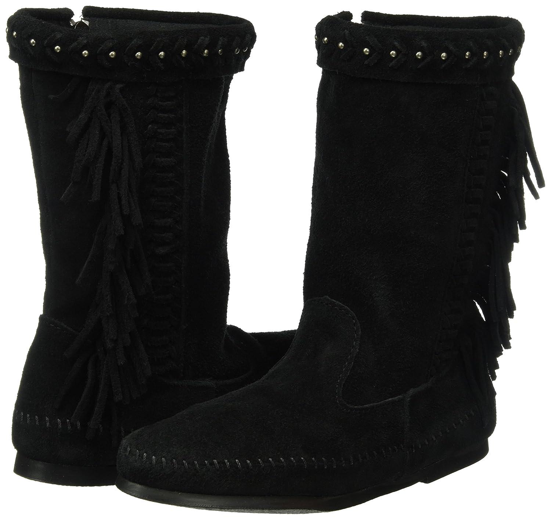 Minnetonka Women's B01BNYV5KK Luna Fringe Boot B01BNYV5KK Women's 7 B(M) US|Black 63b70d