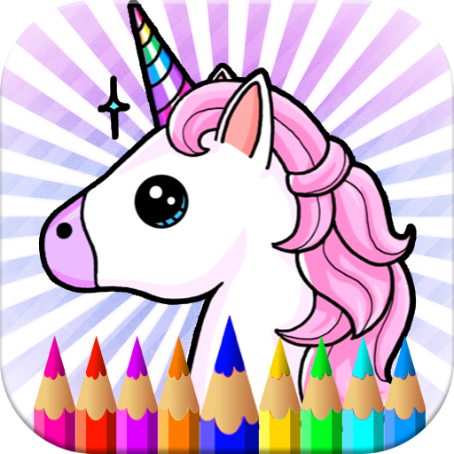Rainbow Unicorns & Pony's Coloring Pages Kids and