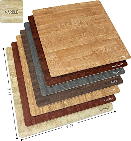 Amazon Com Sorbus Marble Floor Mats Foam Interlocking Marble
